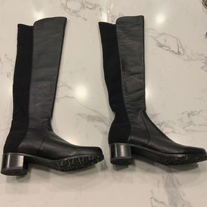 Stuart Weitzman Knee High Black Leather Boots